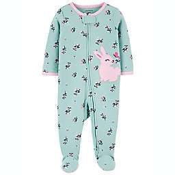 carter's® Newborn Bunny 2-Way Zip Sleep & Play in Teal