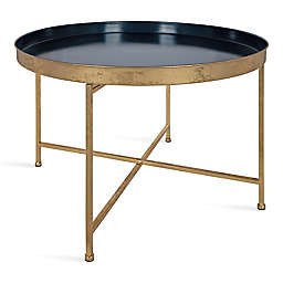 Kate and Laurel® Celia Coffee Table in Navy Blue/Gold
