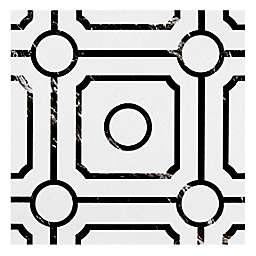 Achim Carrera 20-Pack 12-Inch Retro Peel & Stick Vinyl Floor Tiles in Black/White