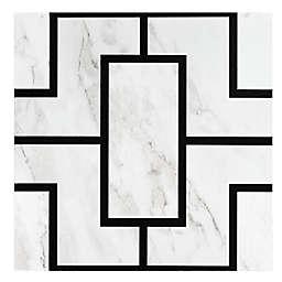 Achim Affinity 20-Pack 12-Inch Retro Peel & Stick Vinyl Floor Tiles in Black Marble