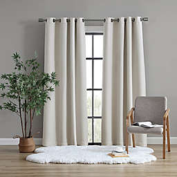 UGG® Devon 84-Inch Grommet Room Darkening Window Curtain Panel in Oatmeal