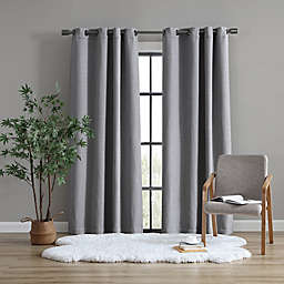UGG® Devon 95-Inch Grommet Room Darkening Window Curtain Panel in Charcoal