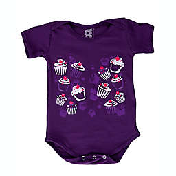 Grip-a-Baby™ Size 6M Cupcakes Galore Non-Slip Bodysuit in Purple
