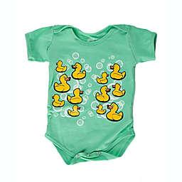 Grip-a-Baby™ Rubber Duckies Non-Slip Bodysuit in Teal