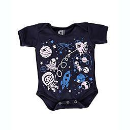 Grip-a-Baby™ Space Non-Slip Bodysuit in Navy/Blue