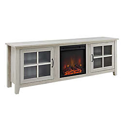 Forest Gate™ Transitional Fireplace TV Stand in Birch