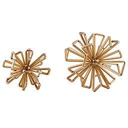Danya B.™ Geometric Starburst Sculptures in Gold (Set of 2)