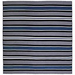 Liora Manné Sorrento Cabana Stripe 8' x 8' Indoor/Outdoor Area Rug in Navy