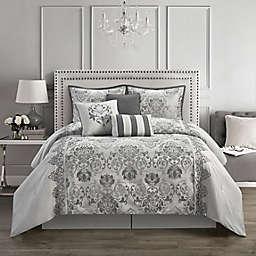 Nanshing Kelly 7-Piece Comforter Set in Grey