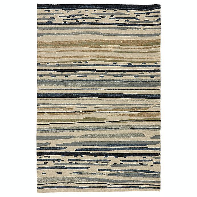 Alternate image 1 for Jaipur Colours 7-Foot 6-Inch x 9-Foot 6-Inch Indoor/Outdoor Rug in Ivory/Blue