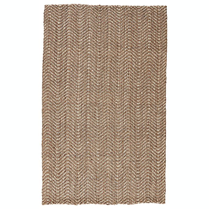 Alternate image 1 for Jaipur Living Alix Chevron Handcrafted Rug in Taupe/White