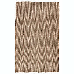 Jaipur Living Alix Chevron Handcrafted Rug in Taupe/White