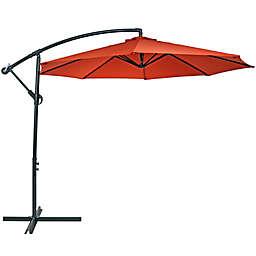 Sunnydaze Decor 9.59-Foot Octagon Offset Patio Umbrella in Burnt Orange