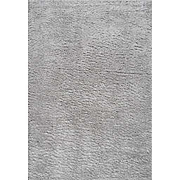 JONATHAN Y Groovy 5'3 x 7'7 Solid Shag Area Rug in Light Grey