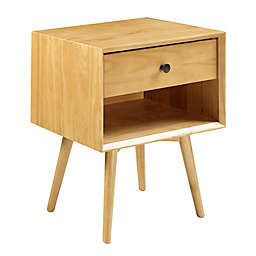 Forest Gate™ Diana 1-Drawer Solid Wood Mid-Century Youth Nightstand in Light Oak