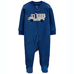 carter's® Truck 2-Way Zip Sleep & Play Footie in Blue