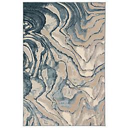 Liora Manne Soho Agate 3'3 x 4'11 Accent Rug in Blue