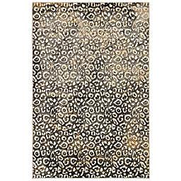 Liora Manne Soho Leopard Rug in Black