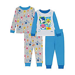 Pinkfong 4-Pack Baby Shark Sea Pals Pajamas in Blue/Yellow
