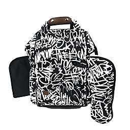 The Physics of HipHop Backpack Diaper Bag in Graffiti Print