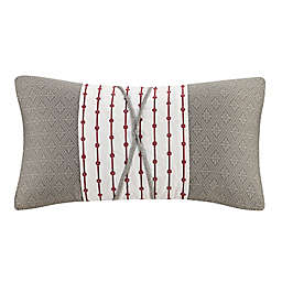 N Natori® Cherry Blossom Oblong Throw Pillow in Grey