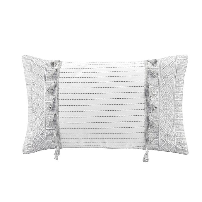 Alternate image 1 for INK+IVY Selma Embroidered Oblong Throw Pillow