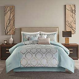 Madison Park® Mariella Jacquard 7-Piece California King Comforter Set in Blue