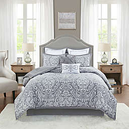 Madison Park® Flourish Jacquard 8-Piece California King Comforter Set in Grey