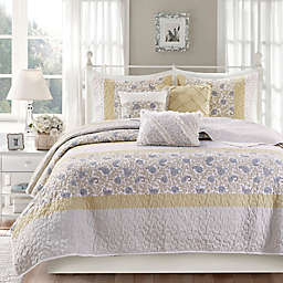Madison Park® Dawn 6-Piece King/California King Coverlet Set in Yellow