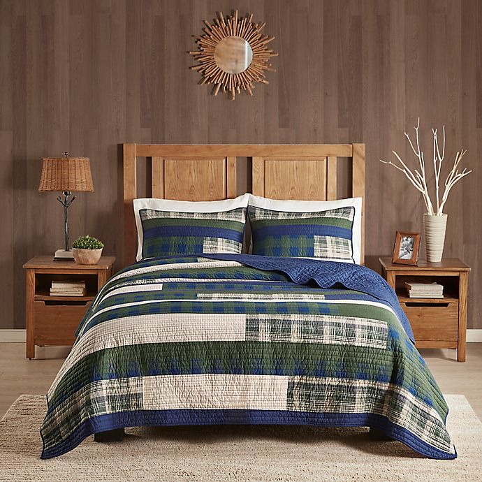 Alternate image 1 for Woolrich Spruce Hill Oversized 3-Piece King/California King Quilt Set in Green