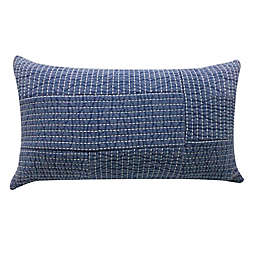Bee & Willow™ Home Yarn Dye Chambray Oblong Throw Pillow in Blue