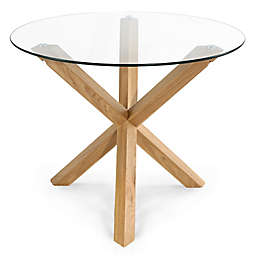 Poly and Bark Kennedy Wood and Glass Dining Table