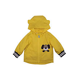 London Fog® Embroidered Dog Rain Jacket in Yellow/Navy