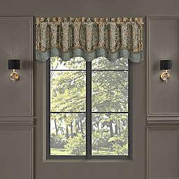 J. Queen New York™ Dorset Scalloped Window Valance in Spa