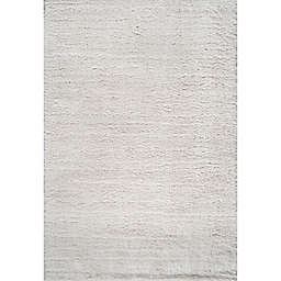 JONATHAN Y Groovy 3' x 5' Solid Shag Area Rug in White