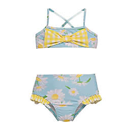 Wetsuit Club® 2-Piece Daisy Yellow Gingham Swimsuit