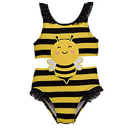 Wetsuit Club® One-Piece Bee Swimsuit in Yellow/Black Stripes