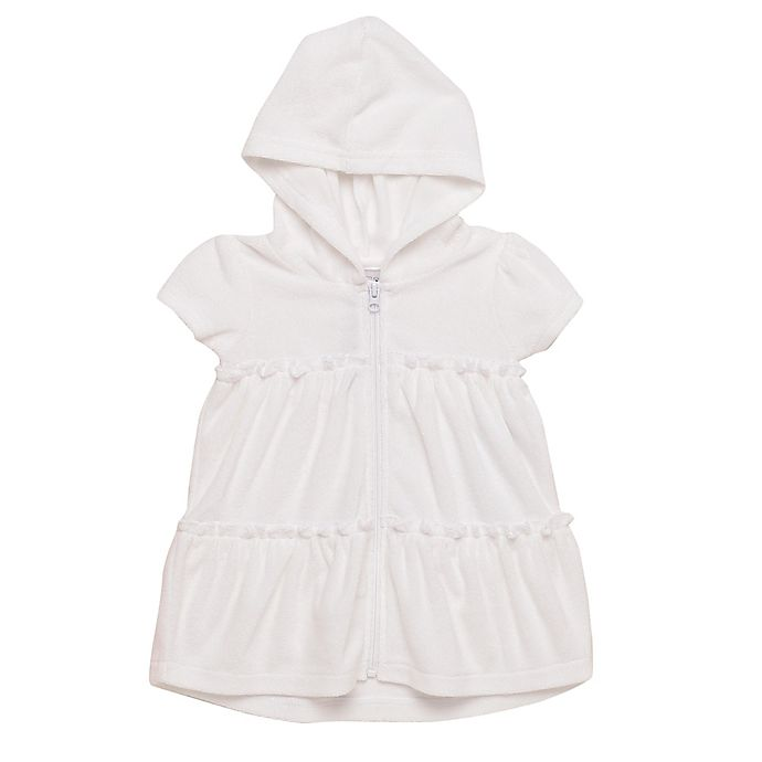 Alternate image 1 for Wetsuit Club® Hooded Terry Swim Coverup in White