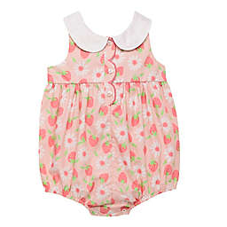 Baby Starters® Strawberry Scalloped Sleeveless Romper in Pink