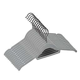 Squared Away™ Velvet Slim Shirt Hangers with Matte Black Hook (Set of 12)