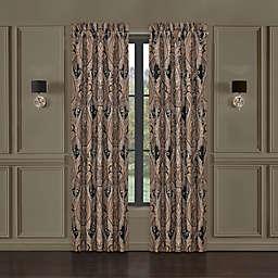 J. Queen New York™ Lauretta 2-Pack 84-Inch Rod Pocket Window Curtain Panels in Black