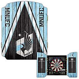 MLS Minnesota United Dartboard Cabinet Set