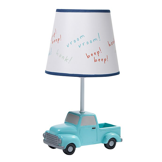 Alternate image 1 for Lambs & Ivy® Car Tunes Lamp Base and Shade in Blue