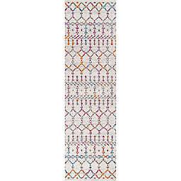 JONATHAN Y Moroccan Hype Boho Diamond 2'3 x 10' Runner in Ivory/Multi