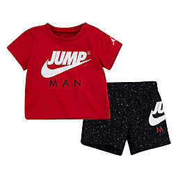 Nike® Jordan® 2-Piece Jumpman T-Shirt and Short Set in White/Red