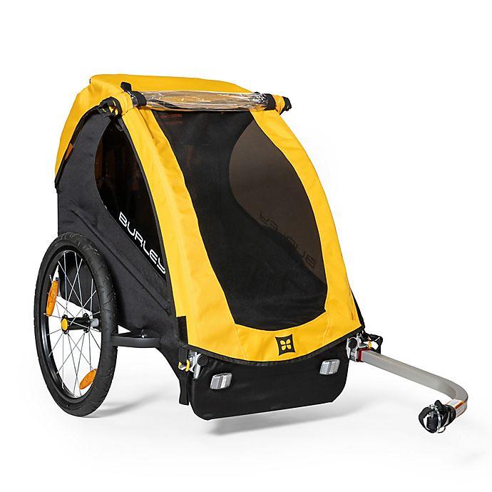 Alternate image 1 for Burley Bee® Single Bike Trailer in Yellow