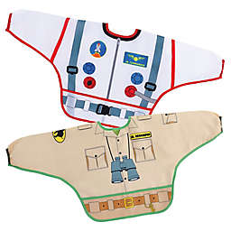 Dreambaby® 2-Pack Astronaut and Zookeeper Food and Fun Character Bibs/Smocks with Sleeves