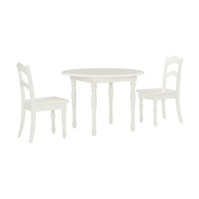 Powell 3 Piece Youth Table And Chairs Set In Vanilla Bed Bath Beyond