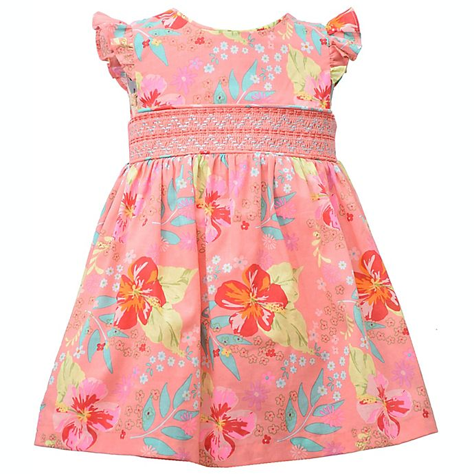 Alternate image 1 for Bonnie Baby Flower Dress in Pink