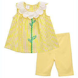 Bonnie Baby 2-Piece Sunflower Shirt and Short Set in Yellow